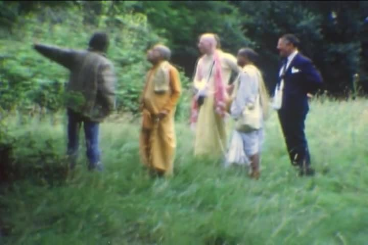 Srila Prabhupada in London with George Harrison -- July 1972