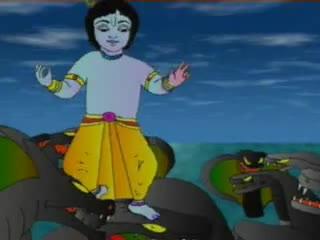 Kaliya and Krishna: Dance on the Head of a Serpent