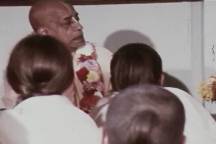 Prabhupada Installs Sri Sri Radha-London-Isvara at Bury Place 1969