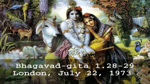 Prabhupada Video Lecture: Bhagavad-gita Chapter 1.Verses 28,29 (BG 1.28-29)
