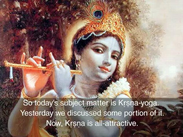 Prabhupada Class on Krishna Yoga: Bhagavad-gita 7.1 -- Bombay Jan 13 1973