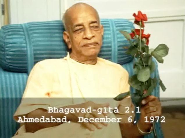 Prabhupada Class on Bhagavad-gita 2.1 -- Ahmedabad December 6, 1972