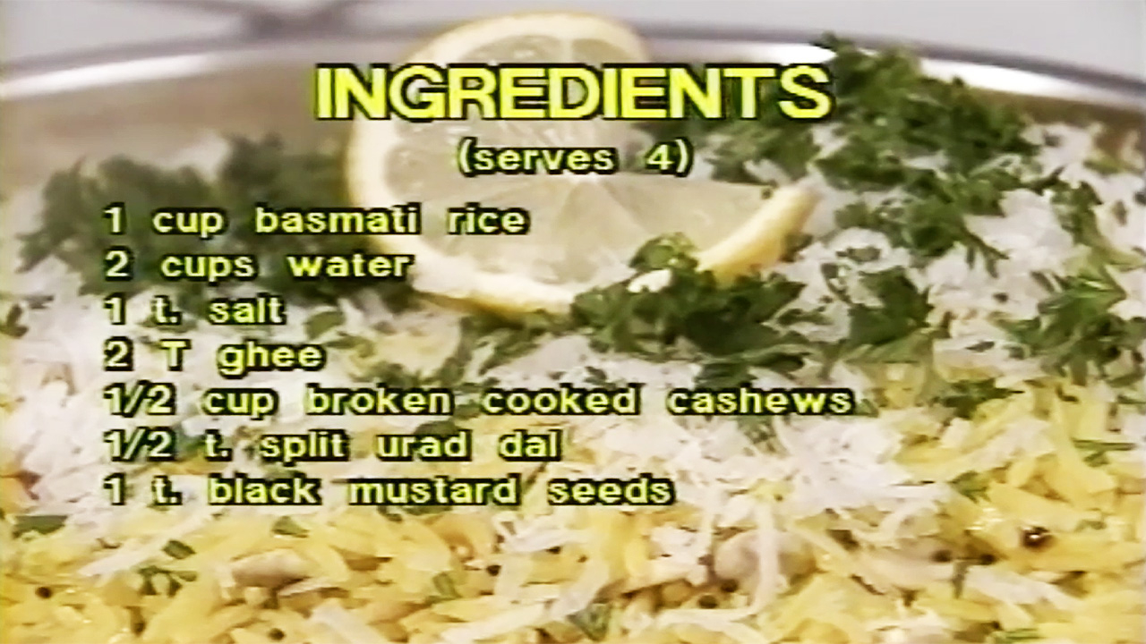 Cooking with Kurma S1-E06 Rice Indian Style